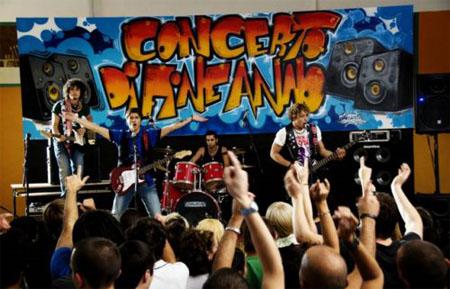 Giovani + musica + graffiti