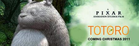 Totoro, Pixar. Stesso poster.
